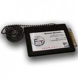 Porte carte professionnel tour de cou avec chainette -- Porte-Carte SEUL (sans médaille ni grade) PCA009-- Porte-Carte SEUL (...