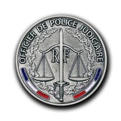 Médailles de porte carte Officier Police Judiciaire