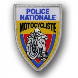 Ecusson Tissu Brodé Police Motocycliste Jaune