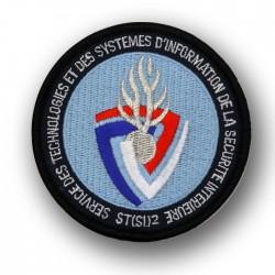 Ecusson Tissu Brodé STSI Service technologies systemes information securite interieur Modèles Disponibles à la Vente ECUSTSIM...