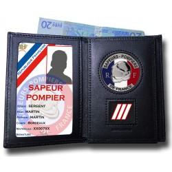 Porte Carte 3 volets Pompier Grade Accueil PCAD002Accueil