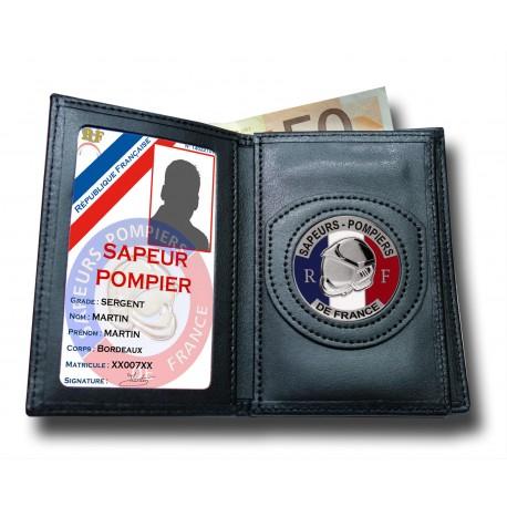 Porte Carte 3 volets Pompier Administratif Accueil PCAD001Accueil