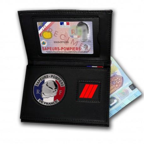 Porte-carte Pompier 3 volets Grade - Porte-Carte Pompier PCA006PDF- Porte-Carte Pompier