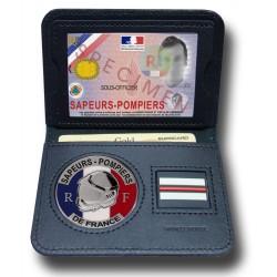 Porte Carte 2 volets Pompier + grade Porte carte Pompier et Protection civile PCA002PDFPorte carte Pompier et Protection civile