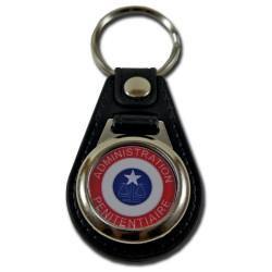 Porte cles cuir administration penitentiaire avec jeton caddie Pénitentiaire PCL005APPénitentiaire