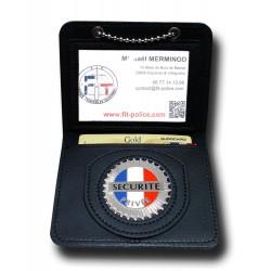 Porte Carte Chaînette Sécurité Privée Sécurité Privée PCA003SPSécurité Privée