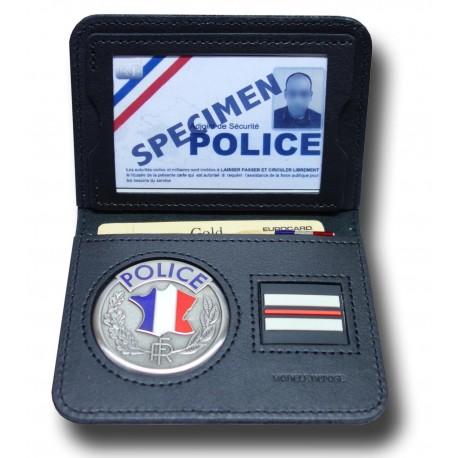 Porte-Carte Police 2 volets Grade - Porte-Carte Police Nationale PCA002- Porte-Carte Police Nationale