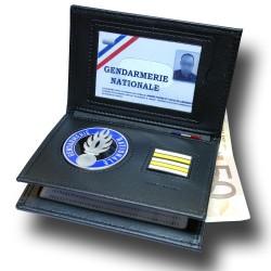 Porte-carte Gendarmerie 3 volets Grade - Porte-Carte Gendarmerie PCA006GD- Porte-Carte Gendarmerie