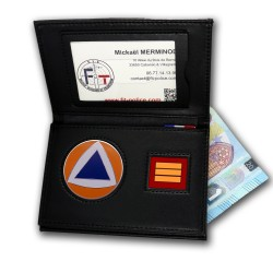 Porte-carte Protection Civile 3 volets Grade - Porte-carte Protection Civile PCA006PC- Porte-carte Protection Civile