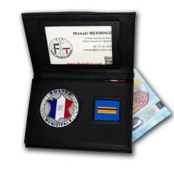 Porte-carte Police Mucinipale 3 volets Grade Nouveau format - Porte-Carte Police Municipale PCA006PM- Porte-Carte Police Muni...