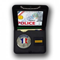 Porte-carte Police Chainette tour de cou Grade - Porte-Carte Police Nationale PCA004- Porte-Carte Police Nationale