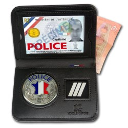 Porte-carte Police 2 volets Billet Grade - Porte-Carte Police Nationale PCA008- Porte-Carte Police Nationale