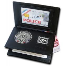 Porte-carte Officier de Police Judiciaire 3 volets Grade - Porte-cartes OPJ Officier de Police Judiciaire PCA006OPJ- Porte-ca...