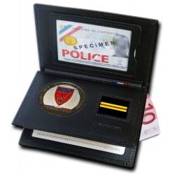 Porte-carte Police CRS 3 volets Grade - Porte-cartes CRS Compagnies Républicaines de Sécurité PCA006CRS- Porte-cartes CRS Com...