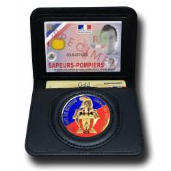Porte Carte 2 volets Pompiers de Paris Administratif - Porte-Carte Pompier PCA001PDP- Porte-Carte Pompier