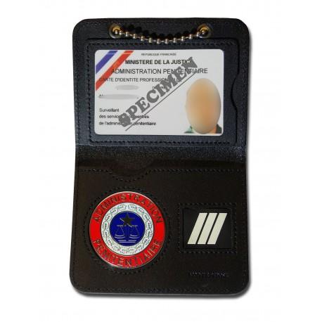 Porte Carte Chaînette Pénitentiaire + Grade Accueil PCA004Accueil
