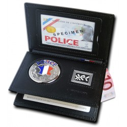 Porte carte Police 3 volets Grade