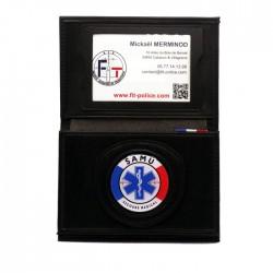 Porte-carte Samu 3 volets administratif Porte-Carte Secours PCA005SAMUPorte-Carte Secours
