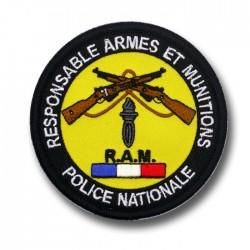 Ecusson Tissu Brodé Responsable Armes et Munitions RAM Modèles Disponibles à la Vente ECUTISRAMModèles Disponibles à la Vente