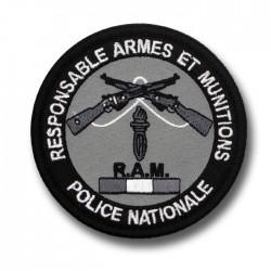 Ecusson Tissu Brodé Responsable Armes et Munitions Basse visibilité RAM Modèles Disponibles à la Vente ECUTISRAMBVModèles Dis...