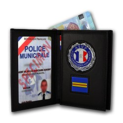 Porte Carte 3 volets Police Municipale ASVP Grade Porte-Carte Police Municipale PCAD002ASVPPorte-Carte Police Municipale