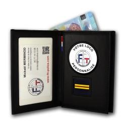 porte-commission 3 volets vertical grade personnalisable Porte-cartes Personnalisables PCADP002Porte-cartes Personnalisables