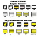 Grades de Portes Carte Douanes