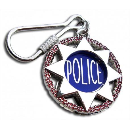 Porte clés police nationale Etoile Accueil PCLP05Accueil