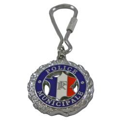 Porte clés Police Municipale Rond Accueil PCLPM02Accueil