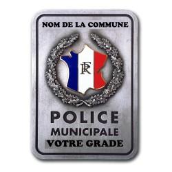 Plaque de Ceinture Personnalisable Police Municipale Police Municipale PCE600Police Municipale