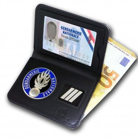Porte Carte 2 volets Billet Gendarmerie + Grade Accueil PCA008Accueil