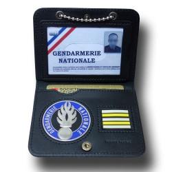 Porte Carte Chaînette Gendarmerie + Grade Accueil PCA004Accueil