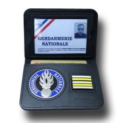 Porte Carte 2 volets Gendarmerie + Grade Accueil PCA002Accueil