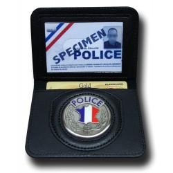 Porte-Carte Police 2 volets Administratif - Porte-Carte Police Nationale PCA001- Porte-Carte Police Nationale