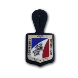 Insigne Poirtine PP Moto sur cuir Accueil IPP001Accueil