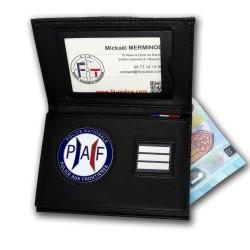 Porte-carte PAF 3 volets Grade - Porte-Carte Police Aux Frontieres PAF PCA006PAF- Porte-Carte Police Aux Frontieres PAF