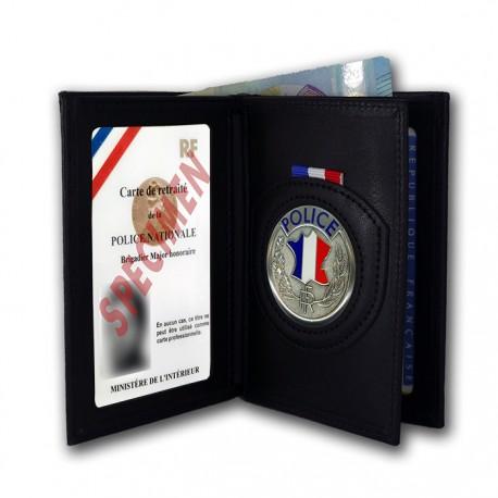 Porte-Carte 3 volets Administratif Police retraité Accueil PCAD001PAccueil